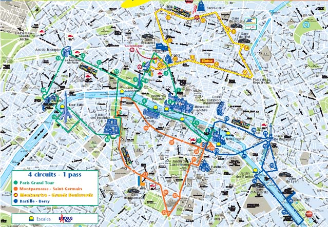 Paris Grand Tour Map L Open Tour