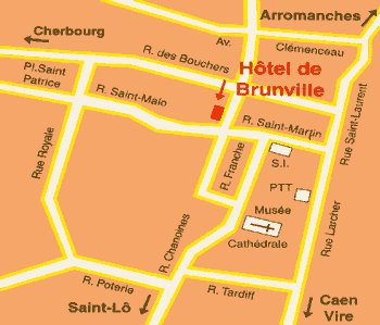 Hotel de Brunville in Bayeux - Normandy