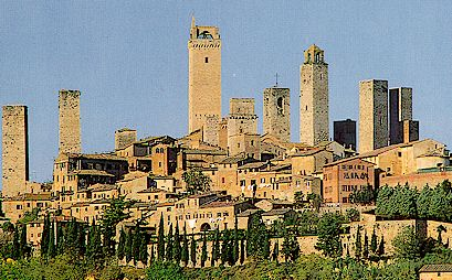 Castle San Gimignano From Florence Italy